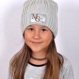 Блестящая шапка зимняя детская / подростковая / женская р.52-57