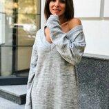Платье «Самара» 42 - 48 серый