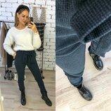 брюки Ткань ангора шерсть,теплые и очень приятные к телу стрейч Фото реал