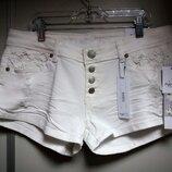 Шорты джинсовые женские, большие размеры, с кружевом RUE21 р.9/10