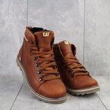 Ботинки мужские рыжий натуральная кожа, зима 40-45 р