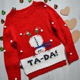 Новогодний свитер фирмы NEXT 7 лет