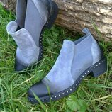 Обувь люкс качества челси Натуральная замша нубук с затиркой по 42 размер