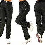 Р-Р 42-56, женские теплые штаны, брюки из плащевки на флисе, зимние