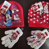 Красный комплект шапка и рукавички Минни Макс Дисней