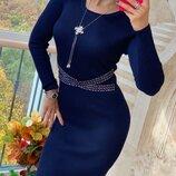 Шикарное платье -- украшение пояс-- 3 цвета