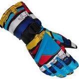 Подростковые зимние перчатки, рукавички, лыжные, горнолыжные, 2 цвета