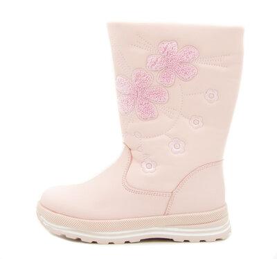Сапоги для девочек Светло-Розовые Размеры 33, 34, 35, 36, 37