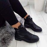 Ботинки демисезон с молнией, утепленные флисом