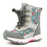 Ботинки для девочки Графитовые Размеры 27, 28, 29, 30, 31, 32