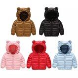 Детская курточка с капюшоном осень, 2 цвета, 1-3 года, новая