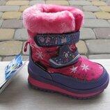 22-27р новые зимние термо ботинки термики сапожки B&G Би джи на овчине девочке розовые