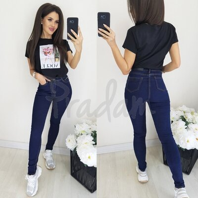 Зимние теплые женские джинсы Американка на флисе Relucky 0851-2. Размеры 25-30