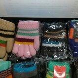Перчатки зимние для девочки, теплые перчатки на меху, зимние перчатки