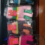 Теплые перчатки на меху на возраст от 6 до 10 лет, зимние перчатки