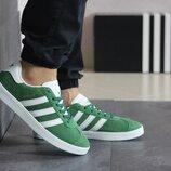 Кроссовки мужские Adidas Gazelle зеленые 8493