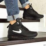 Зимние кроссовки Nike Air Max 87 черные 8549