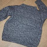 Теплый вязаный свитер для ребенка от 6 до 8лет ,отличное