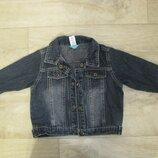 Джинсовая куртка рост 80 см 1 год Baby club