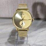 Часы наручные Calvin Klein, CK, Кельвин Кляйн золотистого цвета