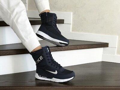 Зимние женские сапоги Nike dark blue