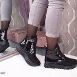 Демисезонные ботинки, высокая подошва