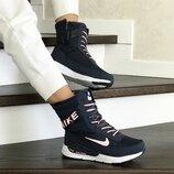 Зимние женские сапоги Nike сине розовые 8555