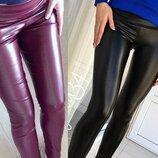 Женские кажаные лосины леггинсы женские бордовый черный ткань экокожа хит Skin скл.10 арт.137