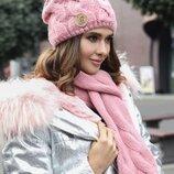 комплект зима, шапка и шарф, цвета