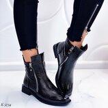 Женские ботинки натуральный лак