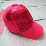 Шикарная розовая бейсболка с паетками
