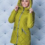 Удлиненная зимняя куртка женская 2 цвета