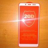 Защитное стекло для Xiaomi Redmi Note 5 белая рамка