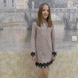 Платье, на рост 128, 134, 140, 146, 152 см, арт.ML-014-Кружево-G