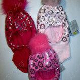 Теплый зимний шлем для девочки GRANS Польша на 46-48
