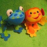 Обезьяна. мавпа.мартышка.жаба.лягушка.мягкая игрушка.мягка іграшка.мягкие игрушки.Fisher Price