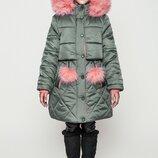 Курточка для девочки, зимняя, подростковая, Алсу