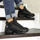 Зимние мужские кроссовки Nike 95 черные 8566