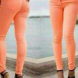 Коралловые женские летние брюки,джинсы. Hema
