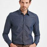 Мужская рубашка LC Waikiki / Лс Вайкики серо-синего цвета