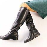 Вт442218Ез Зимние женские кожаные сапожки на каблуке