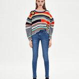 Базовые джинсы ZARA, высокий рост, XS, оригинал, Испания