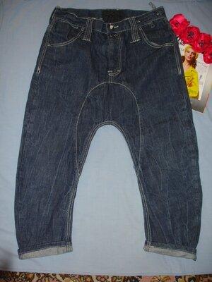 Джинсы мужские размер w 32 укороченные шорты бриджи с матней мотней w32 fenchurch danny р