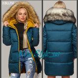 Зимова куртка жіноча, 44-56, тінсулейт. Зимняя женская куртка, Куртка пуховик, молодежный