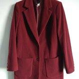 Шикарное кашемировое пальто оверсайз best collection цвета марсало