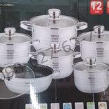 Набор кастрюль 12 предметов Rainberg RB-601 набор посуды кастрюли
