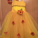 Карнавальное платье осень осенний лист листочек