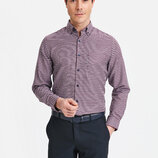 Мужская рубашка LC Waikiki / Лс Вайкики в сине-красную клетку с карманом на груди