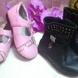Лаковые туфли и Деми сапожки 14см стелька