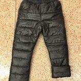 Детские зимние синтипоновые штаны на флисе брюки зимние на мальчика на девочку
